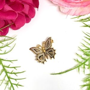VINTAGE⚜️Art Deco Golden Butterfly Pin